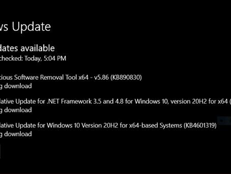 Windows 10 Critical Updates has been Released