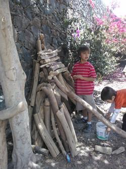 casita troncos