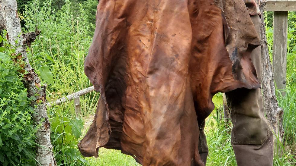 Alder bark tanned Deerskin