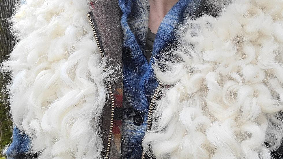 Border Leicester Sheepskin Collar
