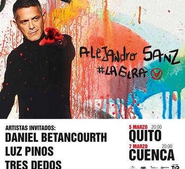 Alejandro Sanz invita a Luz Pinos, Daniel Betancourth y Tres Dedos para compartir escenario en su gi