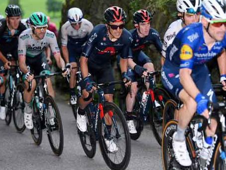 Richard Carapáz ganó la quinta etapa y es líder de la clasificación general en el Tour de Suiza