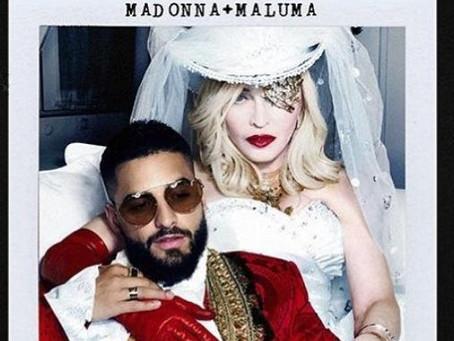 Madonna anuncia colaboración con Maluma