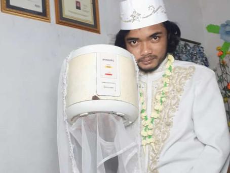 Hombre se casó con su olla para hacer arroz y cuatro días después se separó