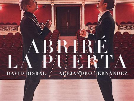 """David Bisbal y Alejandro Fernández presentan """"Abriré la puerta"""""""