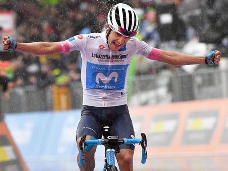 El ecuatoriano Richard Carapaz, revelación del Giro, sueña con los pies en el suelo