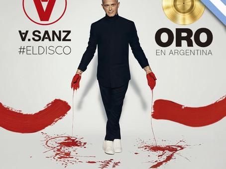 Alejandro Sanz recibe Disco de Oro por su álbum #ElDisco