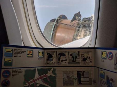 Pasajero comparte imágenes de un avión dañado en pleno vuelo
