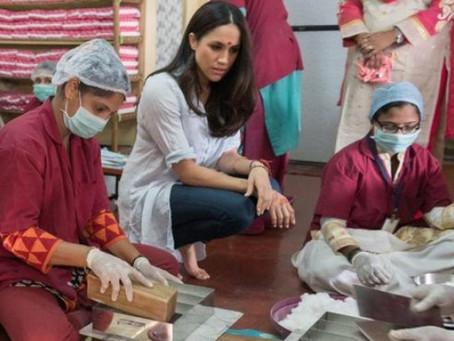 Meghan Markle colabora para mejorar higiene menstrual en mujeres de India