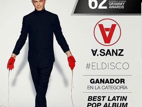 Alejandro Sanz recibe el Grammy Award en la categoría Best Latin Pop Álbum por #ElDisco