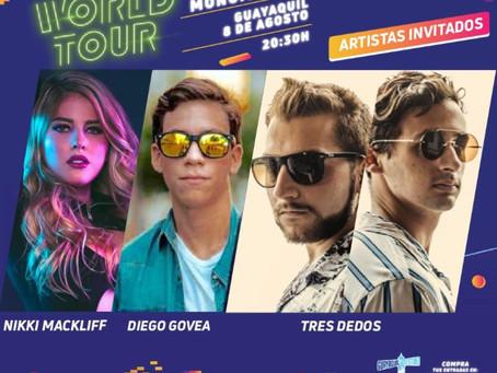 Nikki Mackliff, Tres Dedos y Diego Govea serán la apertura del concierto de Maluma en Guayaquil
