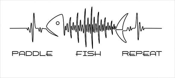 Heart Beat Kayak Fishing Sticker