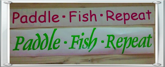 Paddle.Fish.Repeat Sticker (Indoor / Outdoor)