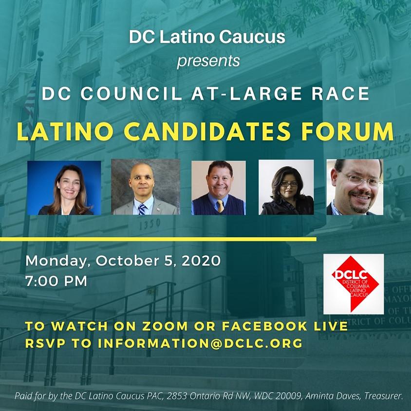 DC Council At-Large Race Latino Caucus Candidates Forum