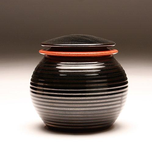 Medium Groovy Covered Jar