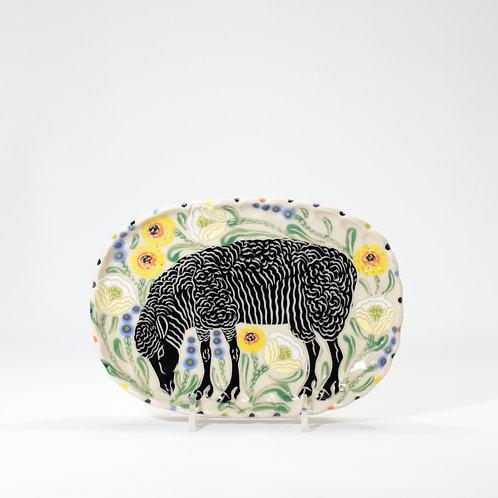 Black Sheep Butter Plate
