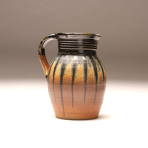 Striped Woodfired Gallon Pitcher