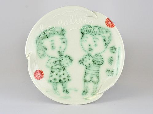 Galleta dessert plate