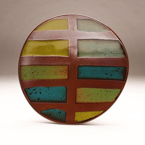 Green Stripes Platter