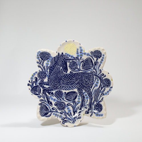Blue Unicorn Star Plate