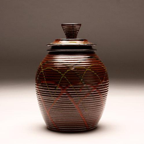 Extra Large Groovy Tenmoku Carnival Jar