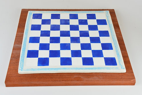 Checker Board 1 on solid wood