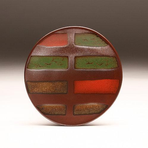Red Stripes Platter