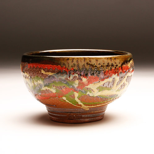 Medium Woodfired Chattered Serving Bowl