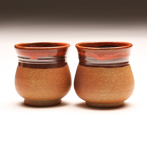 Pair of Woodfired Tea Bowls