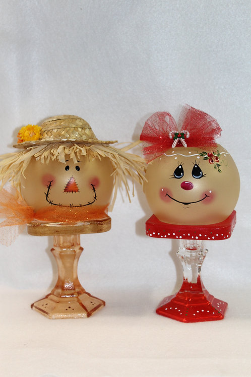 Scarecrow & Gingerbread Globes/CandleHolders E-Packet