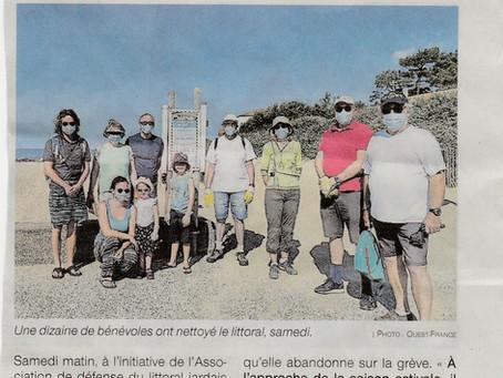 Un nettoyage des plages réussi à Jard sur Mer !