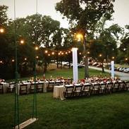 Outdoor bistro lighting for wedding venues