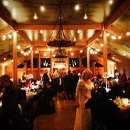 Indoor wedding bistro lighting for weddings and events