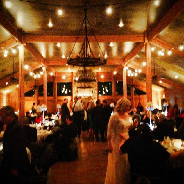 Indoor wedding bistro lighting for weddings and events