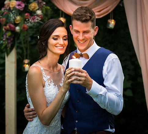 svatební fotografie - svíčky