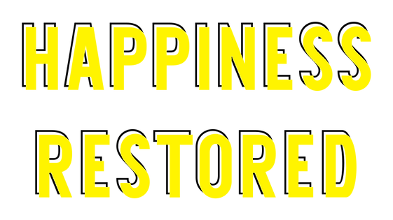 Happiness Restored - Yellow Black Solid