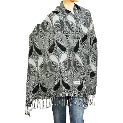 Black/White/Grey Pashmina Scarf