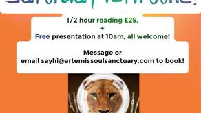 Mediumship readings with 'The Dice Man', internationally renowned psychic, next Saturday!!!!