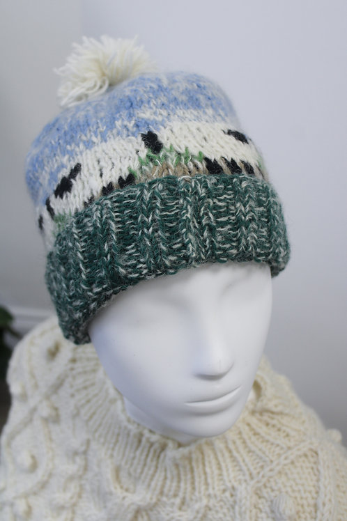 Sheep in the mist hat