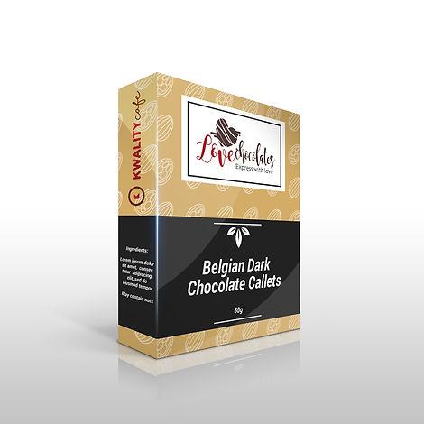 Chocolate packaging design mockup