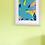 Thumbnail: A3 Monstera Brights Prints Aqua