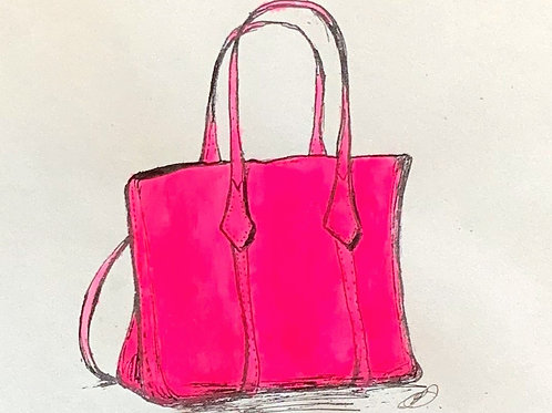 Neon pink handbag