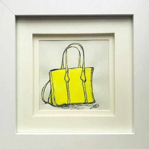 Neon yellow handbag