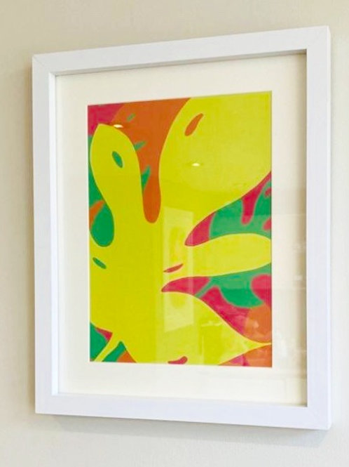 Yellow Monstera Brights A4 print