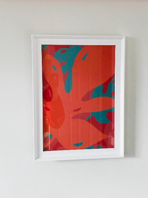 Orange Monstera Brights A4 Print