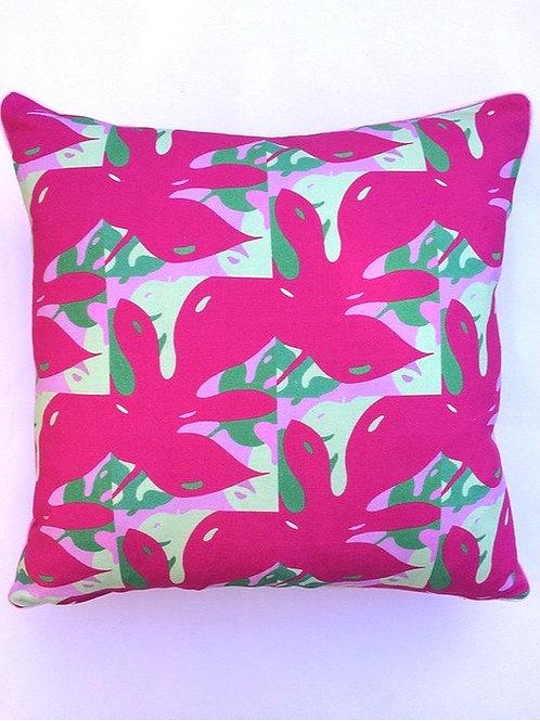 Pink Monstera Brights Cushion