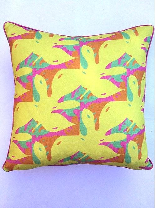 Yellow Monstera Brights Cushion