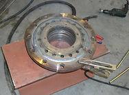 Verstevigen cilinderkop hydraulische pers