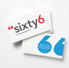 Sixty 6 PR identity