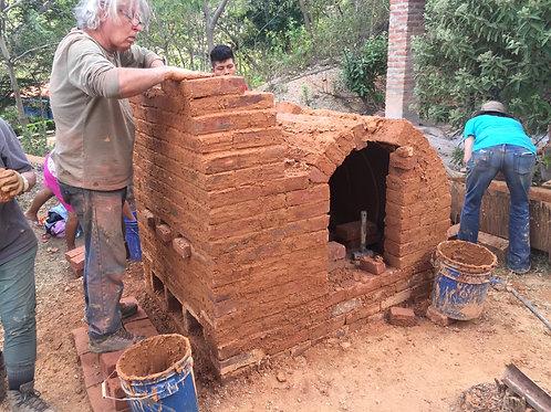 Barrel Arch Kiln Building - Potters for Peace June 9-15, 2019